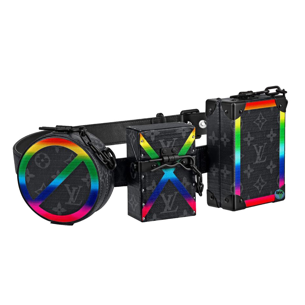TRIO TRUNK - €10,000 $13,600M20187MONOGRAM ECLIPSE RAINBOW