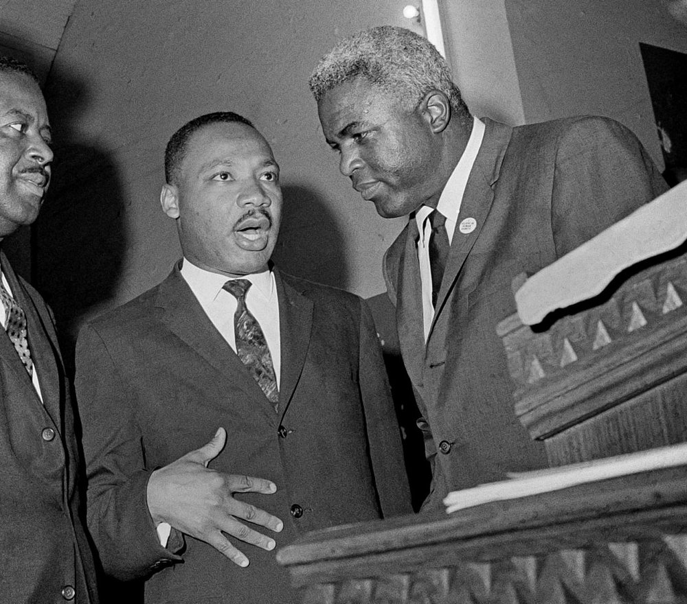 With Dr. Martin Luther King, Jr.