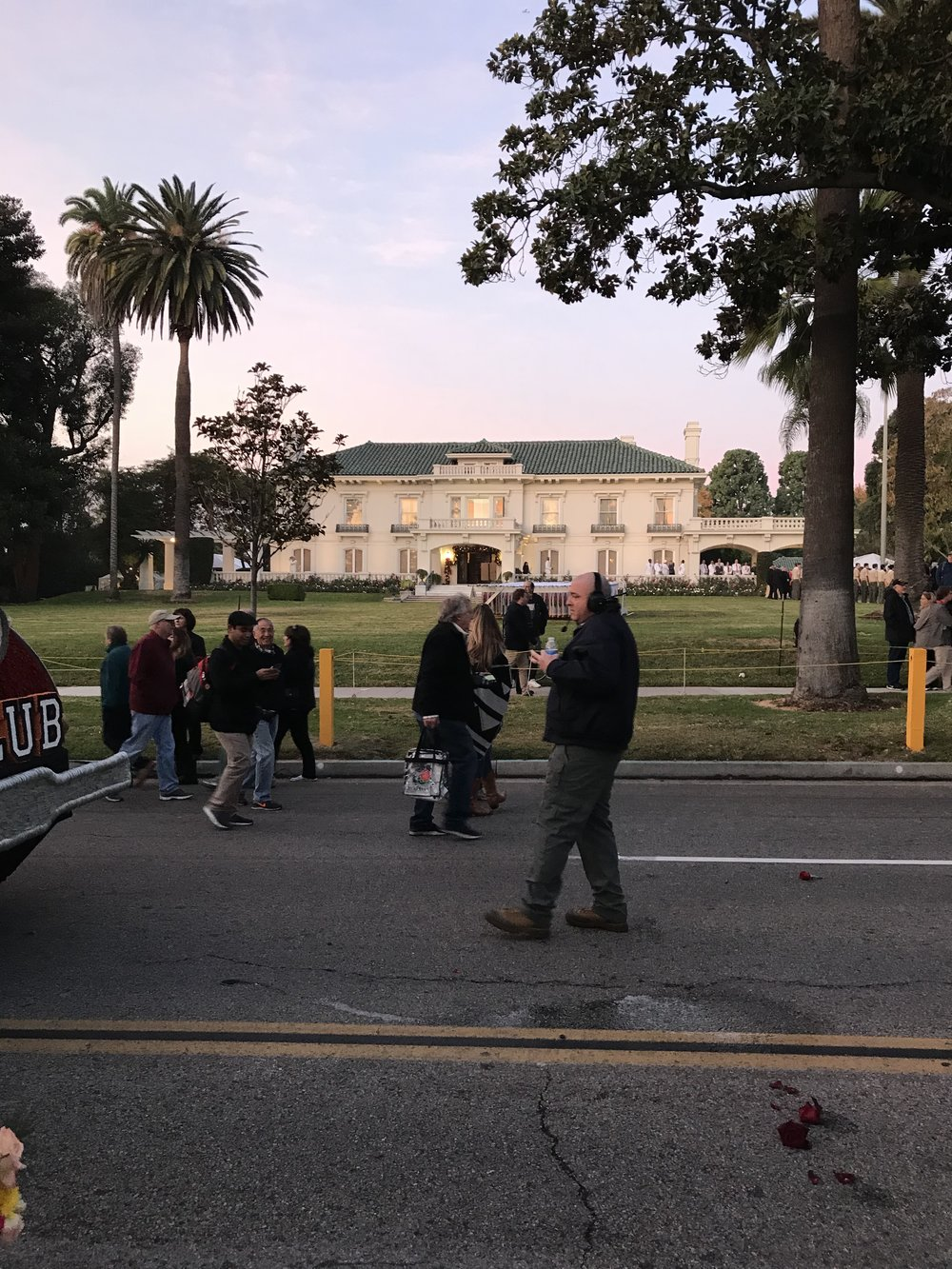 The Wrigley Mansion (shown here) is the headquarters of the New Year's Rose Parade.