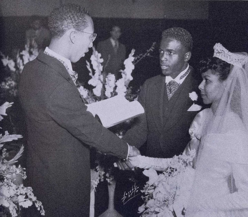 Karl Downs, who was a mentor for young Jackie, officiated his wedding to Rachel