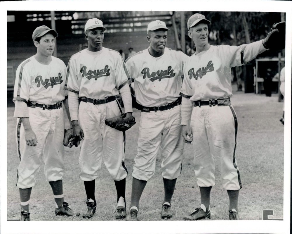 With the Montreal Royals