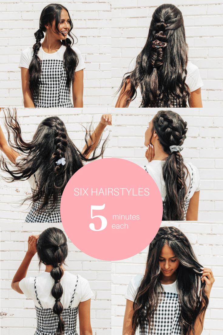 6 Easy Hairstyles 5 Minutes Each Kelsi Carma
