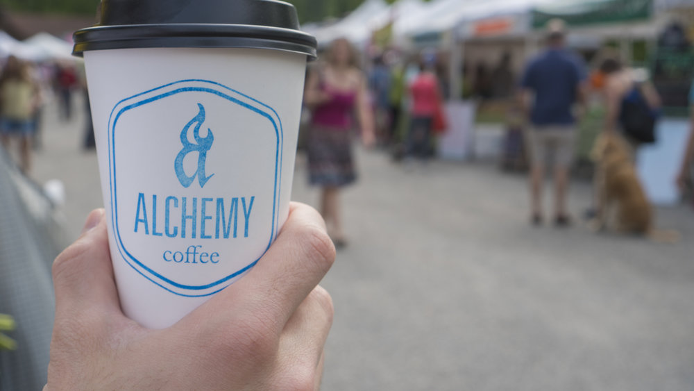 Nick is coffee-obsessed, so Alchemy Coffee is typically our first stop at South of the James. We always try to arrive right as the farmer's market is opening at 8am, so Alchemy Coffee gets us ready to tackle all the vendors at South of the James!