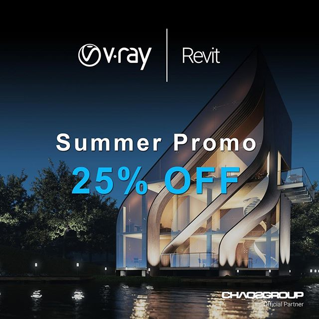 Aprovecha esta nueva promoción!!! Hasta el 15 de Julio 2018!  #vrayrevit #vrayecuador #ecuador #chaosgroup #arquitectura #quito #gye #vray #uio #arquitectos