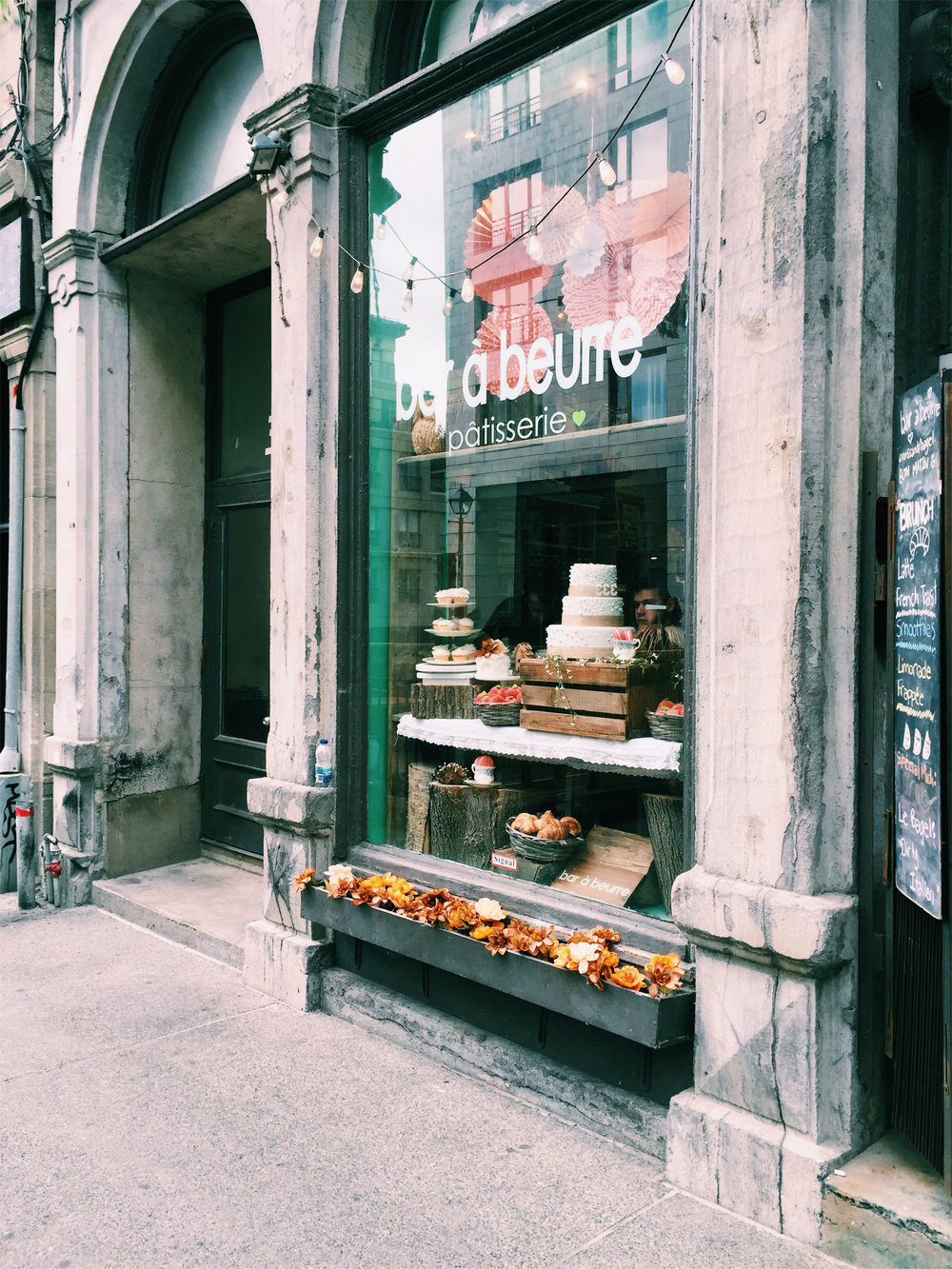 Bar a Beurre Patisserie in Old Montreal via Lora Weaver Mysteries by Katy Leen