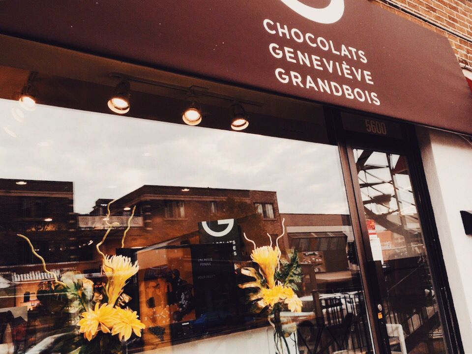 Chocolat Geneviève Grandbois in Monkland Village via Lora Weaver Mysteries by Katy Leen