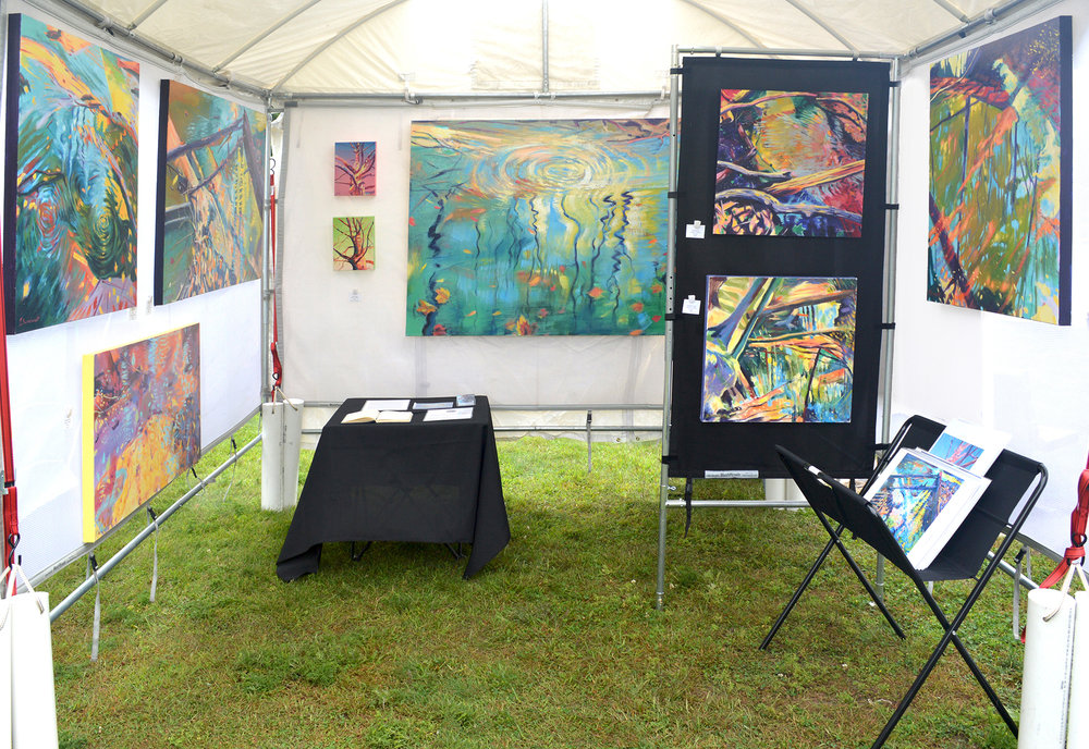 This is a photo from the Frankfort Art Fair in Northern Michigan.  I saw a previous gallery owner that exhibited my work from Grand Rapids, and a family that purchased three of my paintings two years ago in Ann Arbor.  We had pleasant weather in a wonderful lake town!