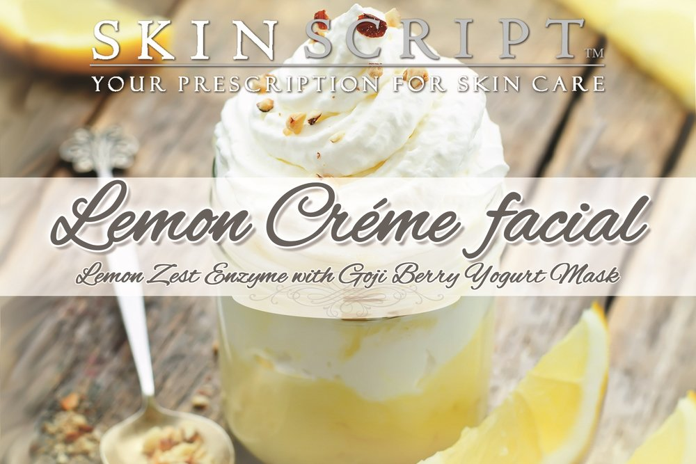 Lemons provide great brightening capabilities to our skin. When we add lemon to our drinking water, it helps to detoxify our body. Lemons are tart, and in small doses, bring great anti-aging benefits to our whole body. Blending lemons with a yogurt mask, such as the Goji Berry Yogurt Mask, will create a creamy, brightening and hydrating facial. Contains 6% lactic acid, 3% glycolic acid, 8% arbutin and 2% kojic. Perfect for normal and combination skin. It promotes deep hydration that protects from environmental damage while relieving the surface signs of aging. Arbutin and kojic provide extreme lightening capabilities. Goji Berry Yogurt Mask will nourish the skin resulting in a beautiful, healthy glow.