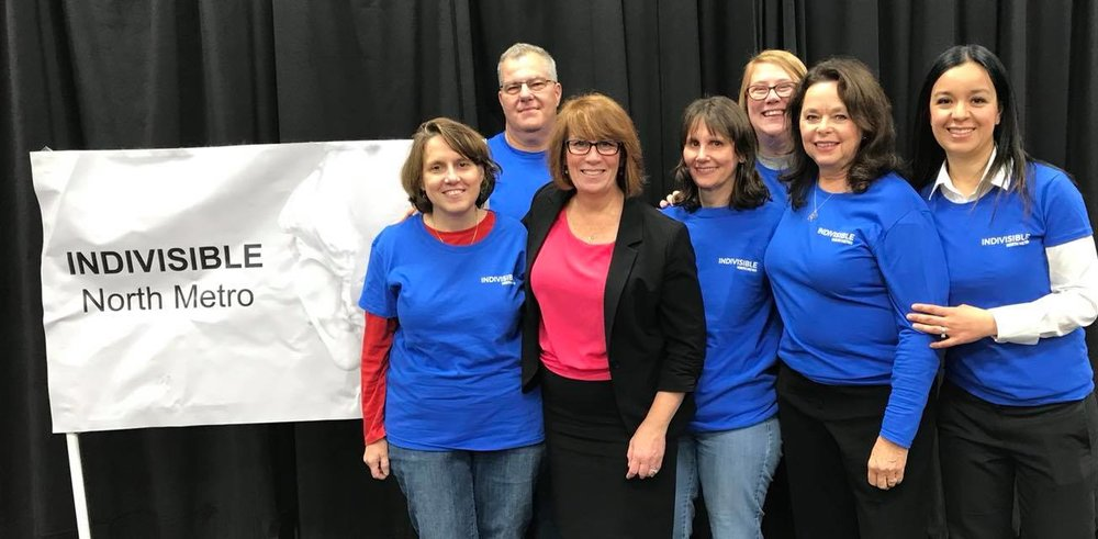 We were all a little busy, so this is the only picture with all 6 of us (& Candidate Erin Murphy). L-R, Kelly, Brian, Danette, Kayli, Ellen, Karla.