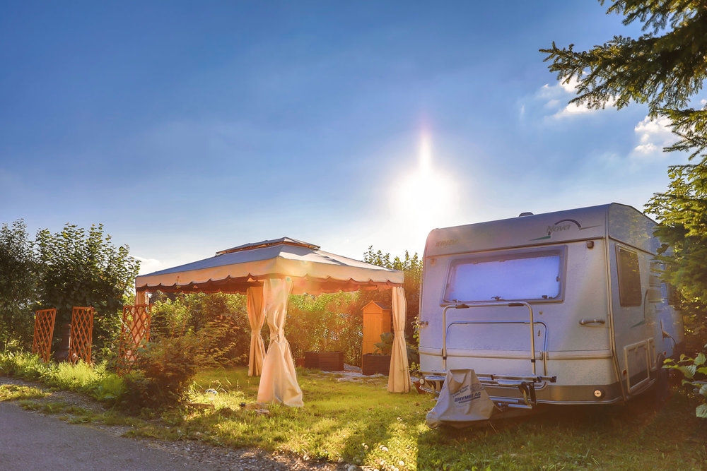Der Campingplatz ist Sommer und Winter geöffnet -