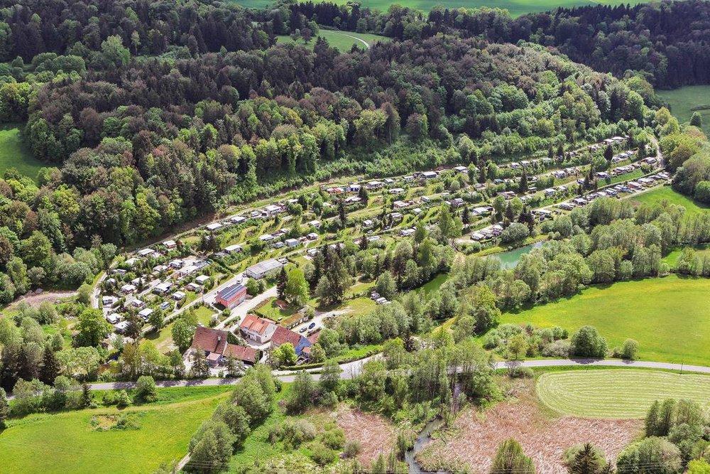 Luftbild des Campingplatz Sippelmühle