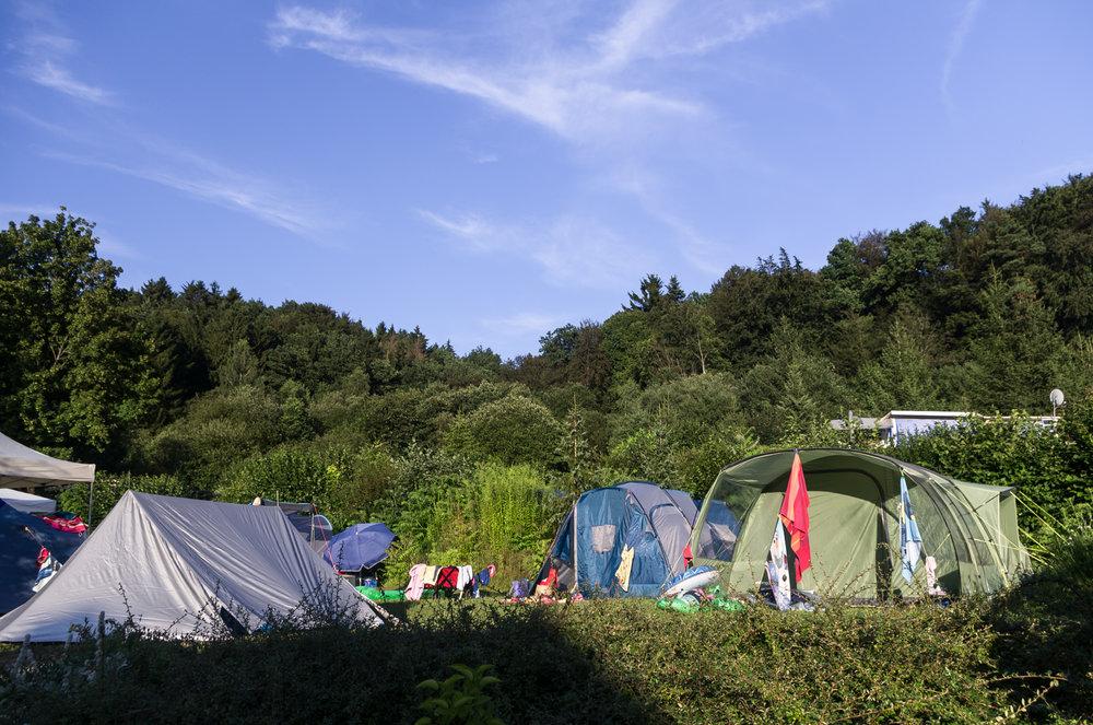 Viel Platz für Zelte
