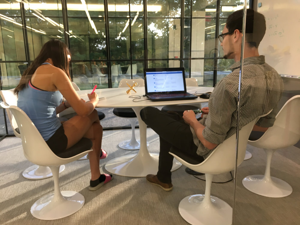 @ Bell Works - That's Liam tutoring a Ranney student in math. We have an excellent team in Holmdel. Shhh... whenever we open a new location, our