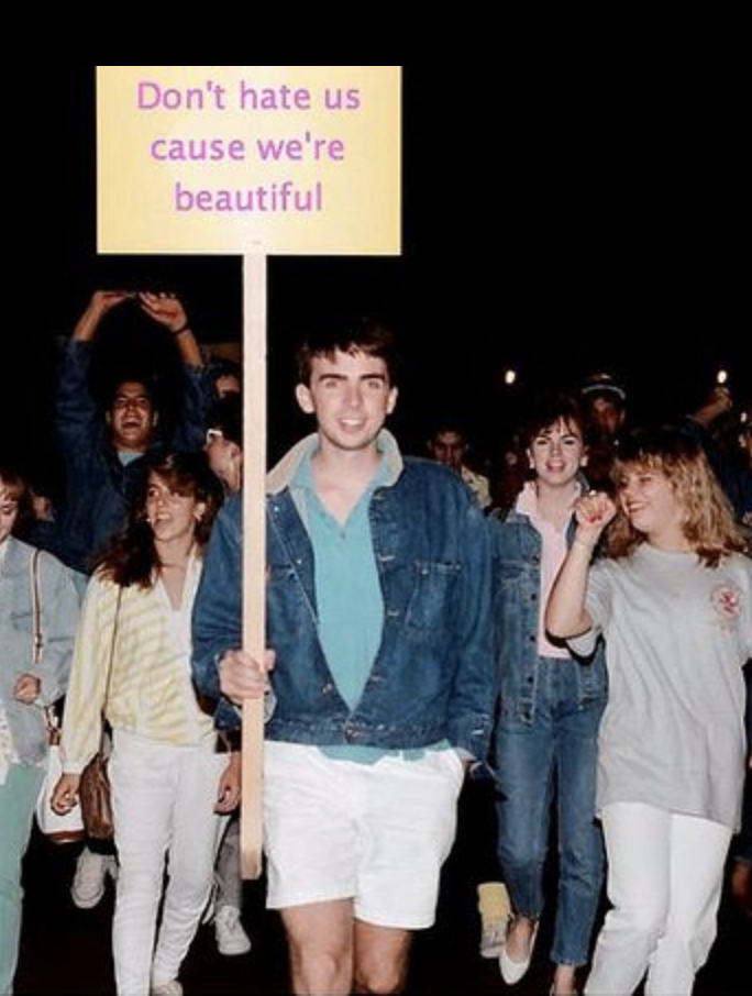 Ron leading a march during his Rutgers College Honors Program days.