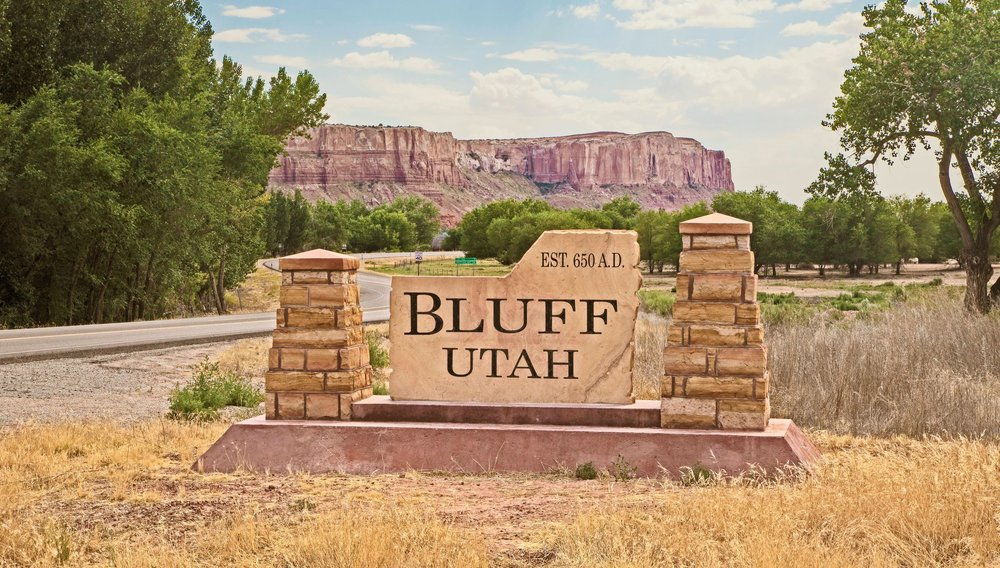 Entrance to Bluff Utah  Bears Ears Country