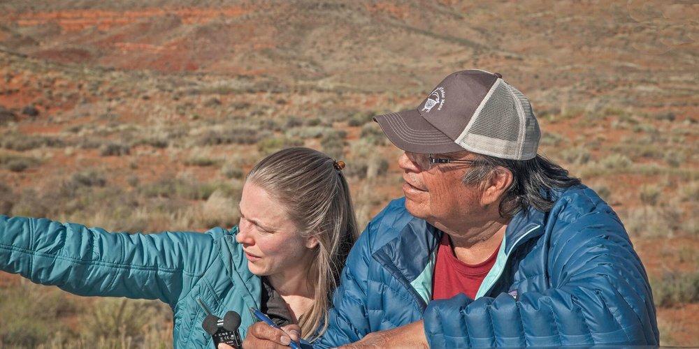 Rebecca Robinson and Jonah Yellowman