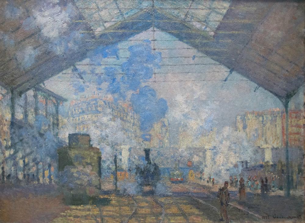 1. Estación Saint Lazare, Claude Monet.1877 - fuente Wikipedia.
