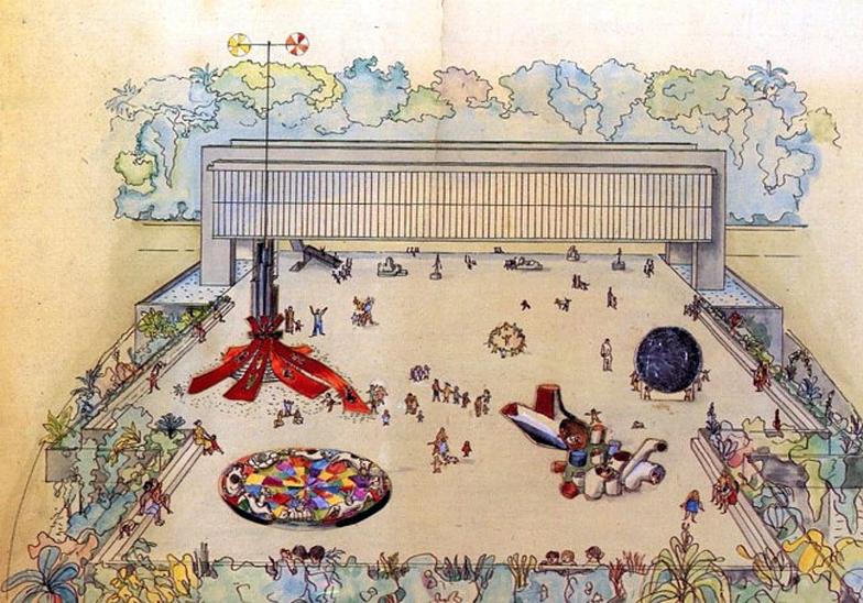 5. Dibujo del Museo de Arte de Sao Paulo. Lina Bo Bardi