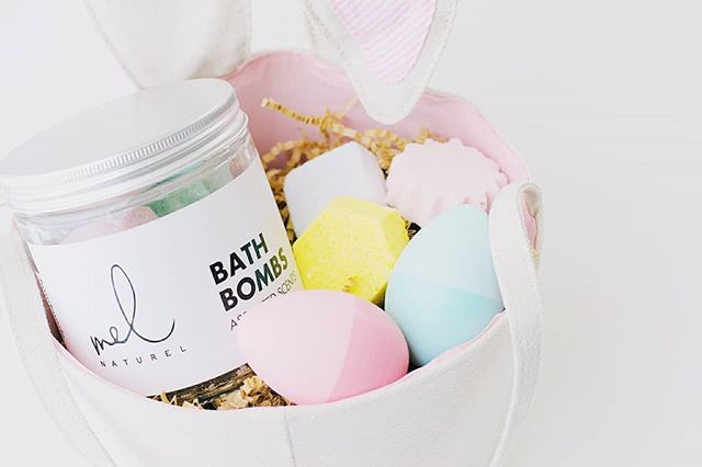 Easter is just a couple of weeks away! . . Be sure to shop our Bath Bombs that made the perfect addition to your Easter egg baskets.🐰🌿