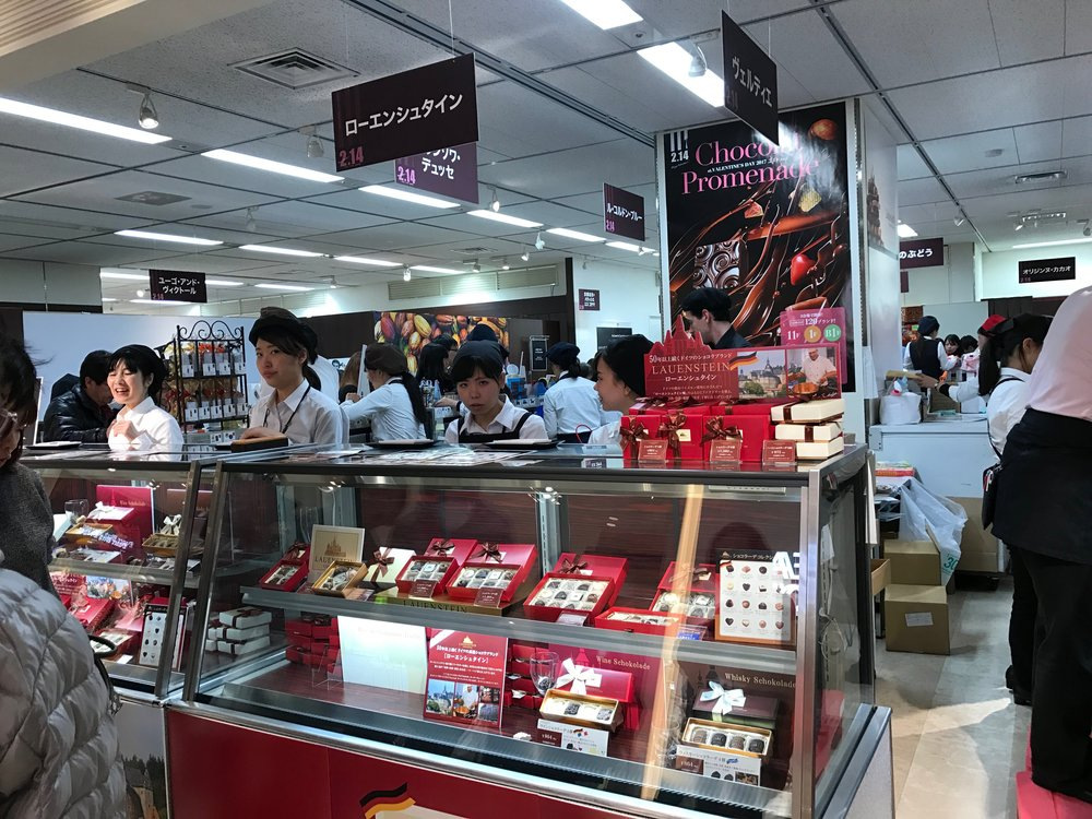 Valentine's Day chocolate sold at a department store in Japan. Photo by  lazy fri13th  / Creative Commons