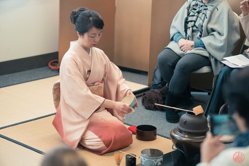 Tea ceremony demonstration during Bunka no Hi 2017. Photo by Jason Go.