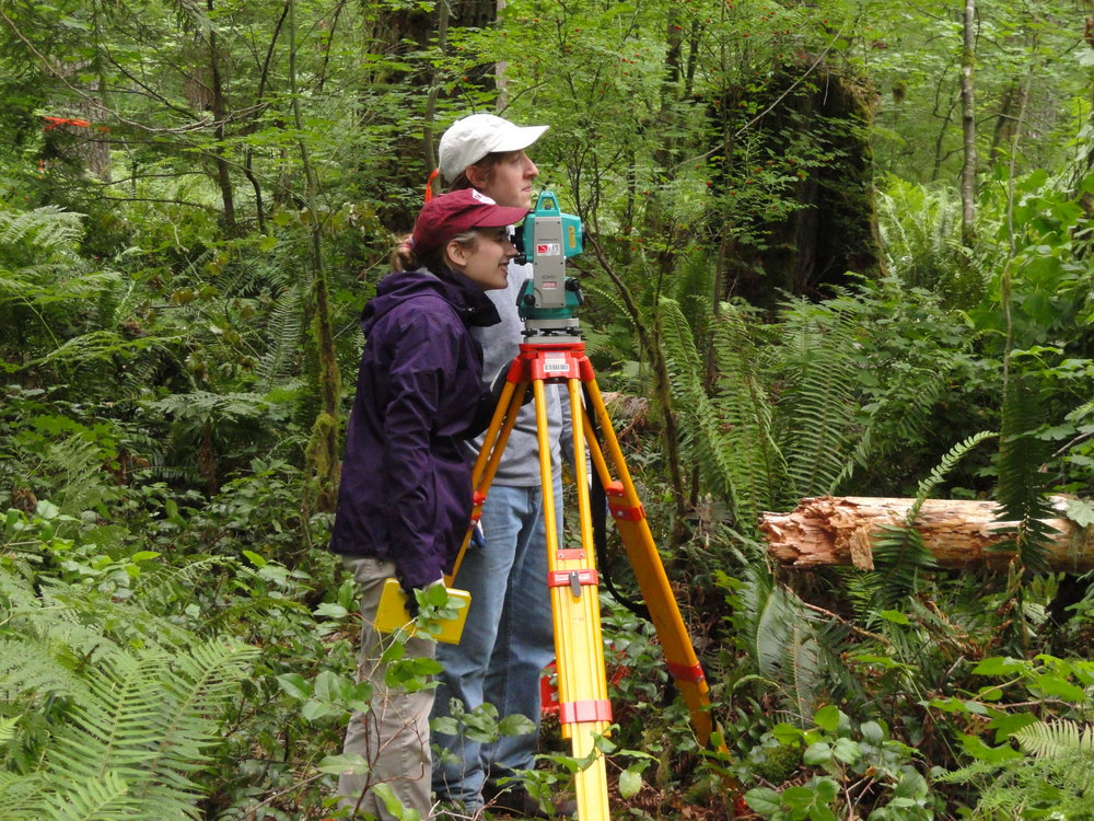 Volunteers help survey ground in Barneston.  Photo: David Carlson