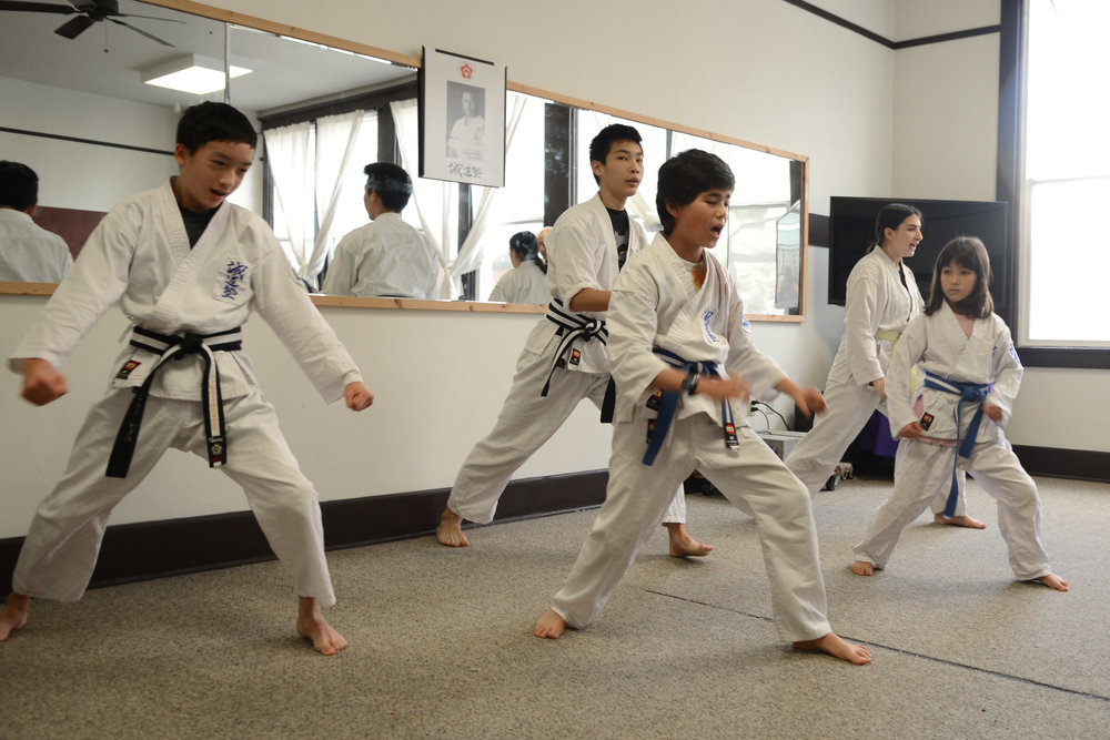 Youth demonstrate karate during Bunka no Hi 2018. Photo by Tyler Sipe