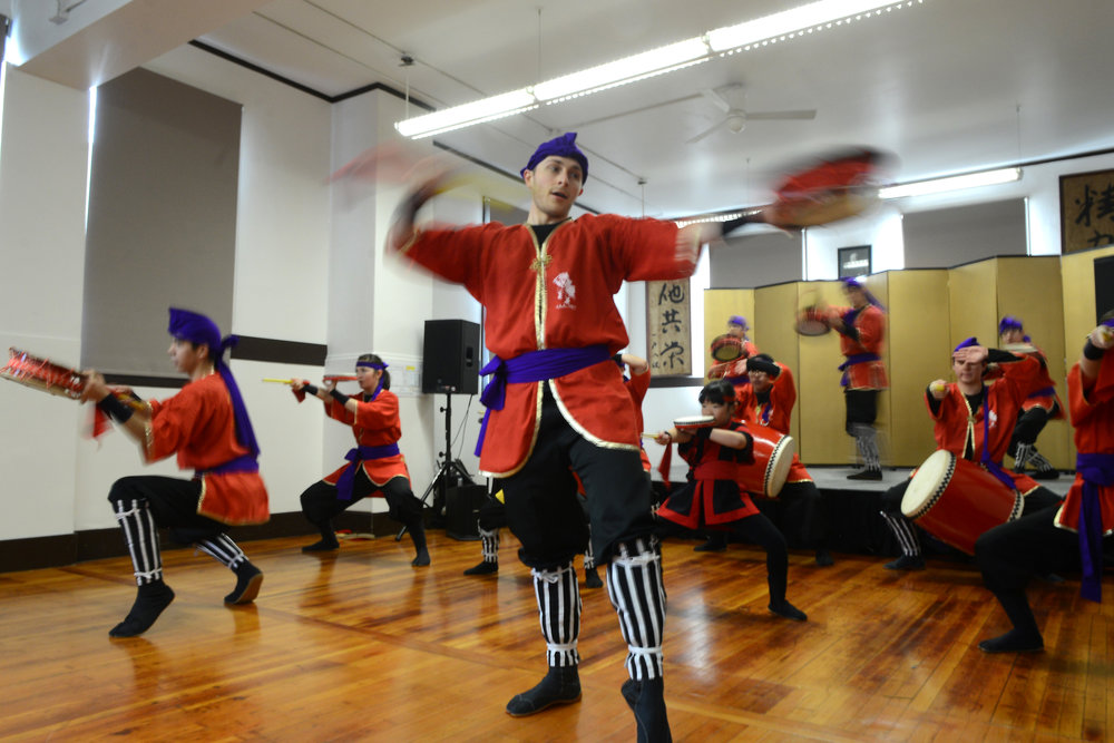 Okinawa Taiko performs during Bunka no Hi 2018. Photo by Tyler Sipe