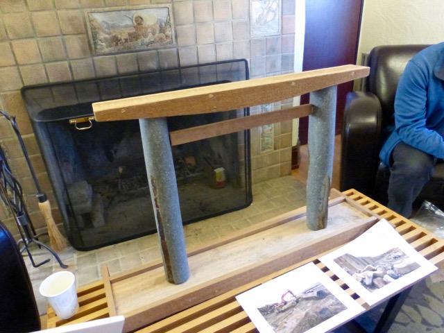 A rough replica of the new torii.  Photo: David Berger