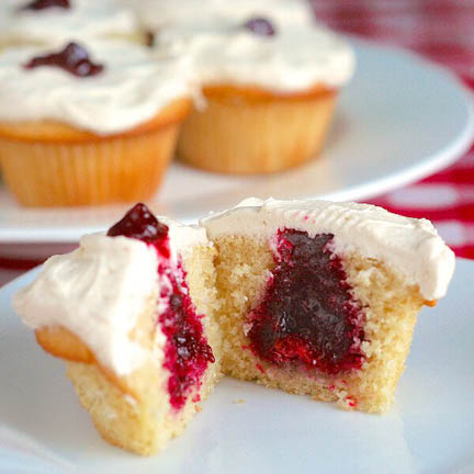 Jam Filled Cup Cakes