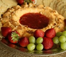 Southern Cheese Ring with Strawberry Sunrise Jam