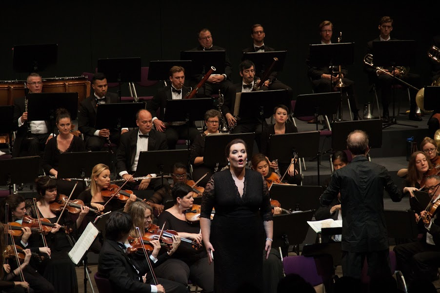 """A soprano of genuine       Wagnerian potential"" -                                                          — Pittsburgh Post-gazette"