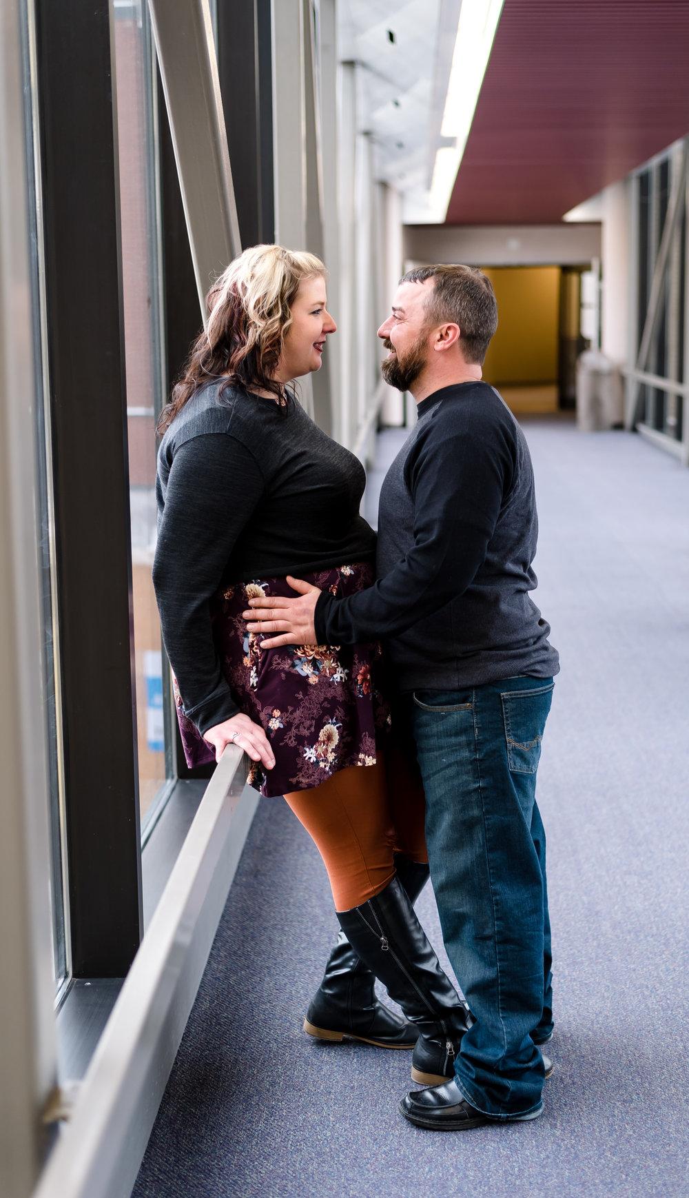Downtown Fargo Engagement Pictures | Chelsea Joy Photography
