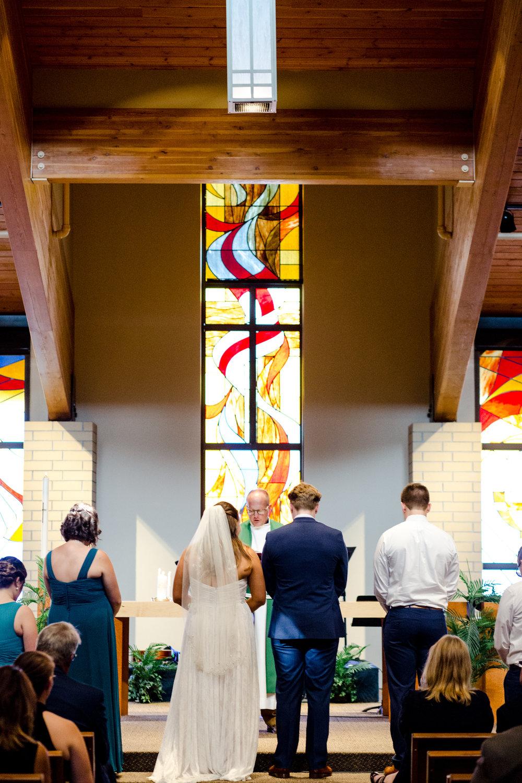 Fargo Moorhead Wedding Photography at Lutheran Church of the Good Shepherd by Chelsea Joy Photography