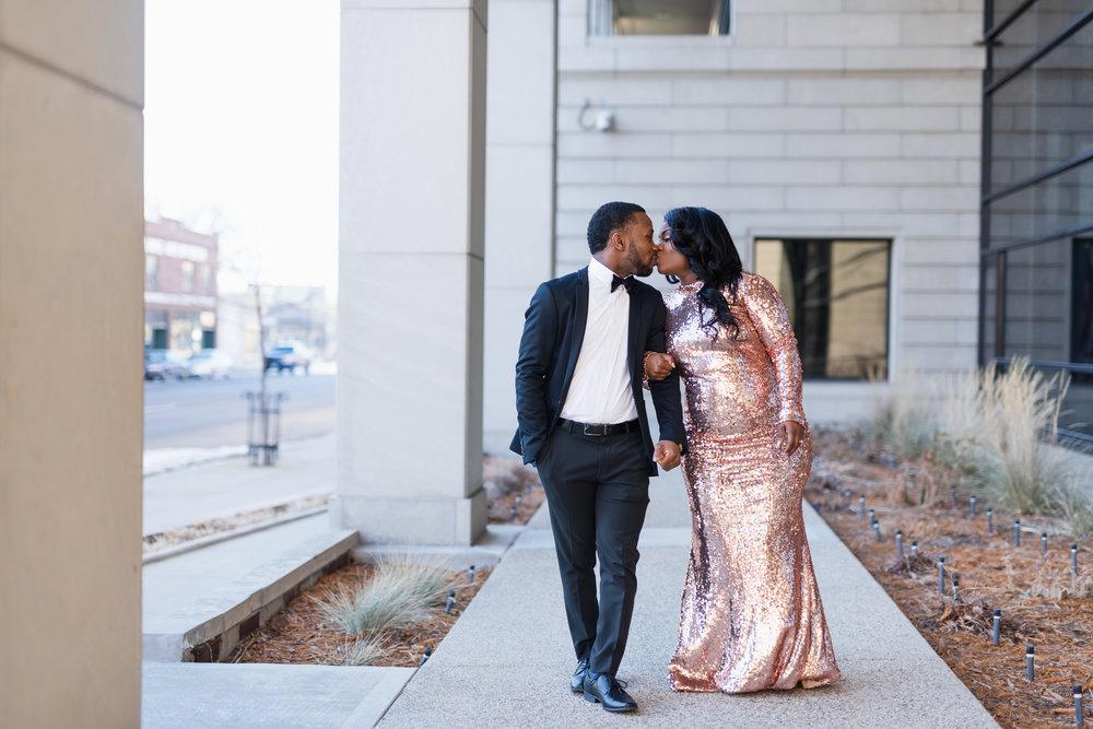 Downtown Fargo Winter Engagement Session | Fargo Wedding Photography