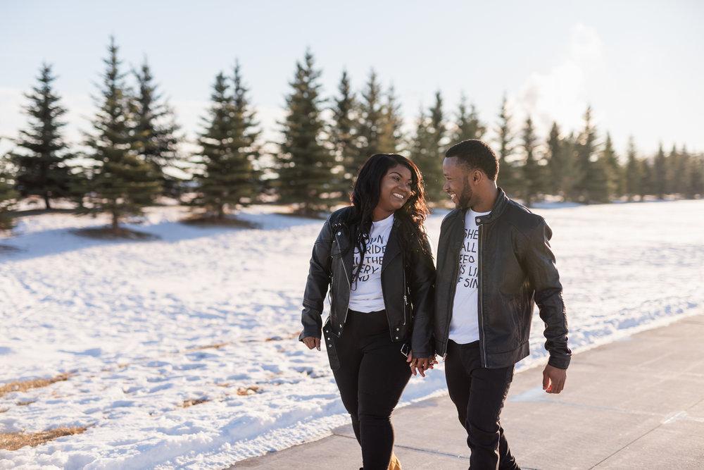 Downtown Fargo Winter Engagement Photographer | Fargo Wedding Photography