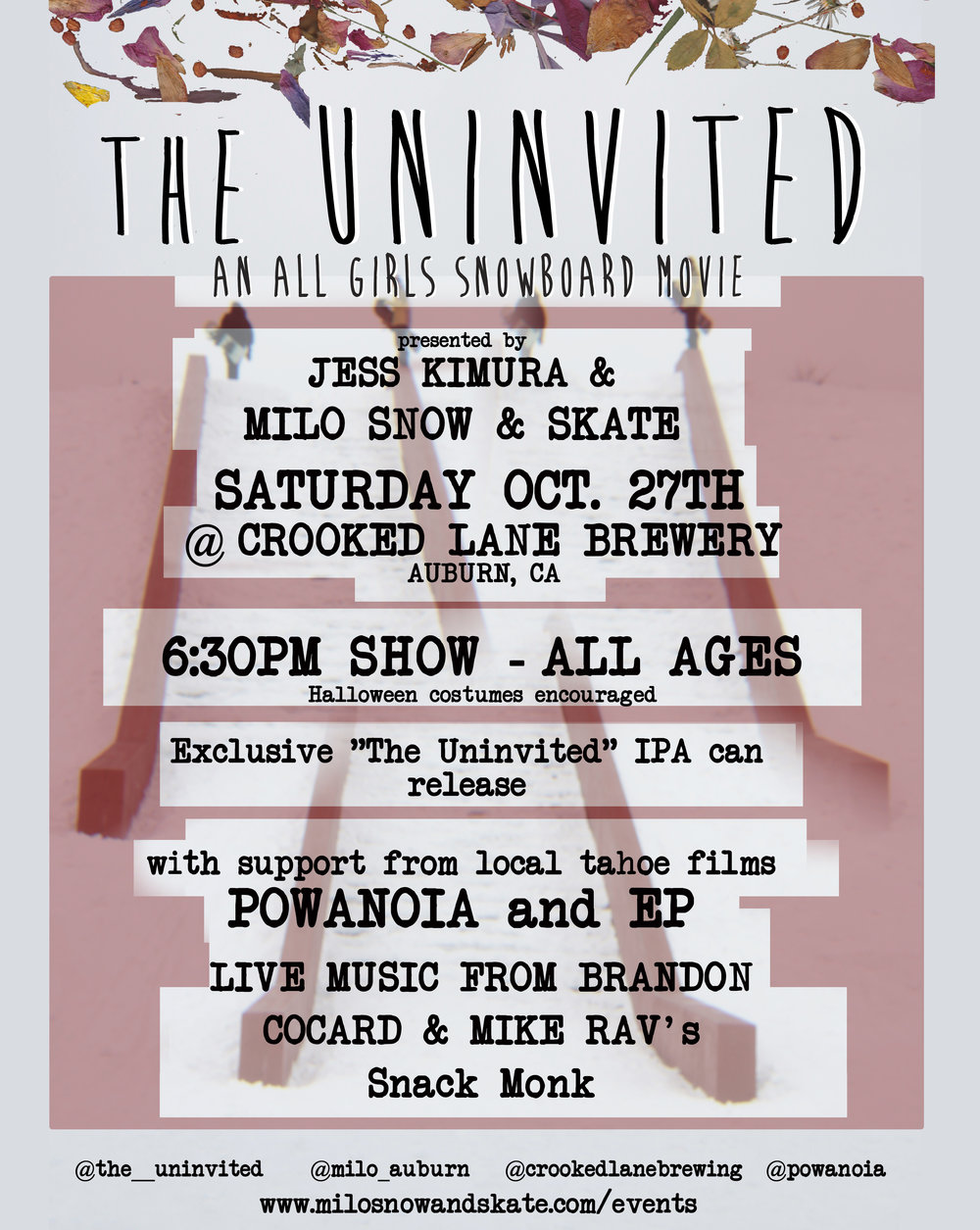 The Uninvited women's snowboard movie premiere