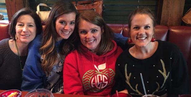 Teacher Friends: (left to right) Brooke, Me, Elissa, + Hannah