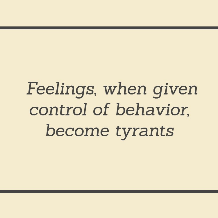 Control Anxiety and other feelings to avoid chaos