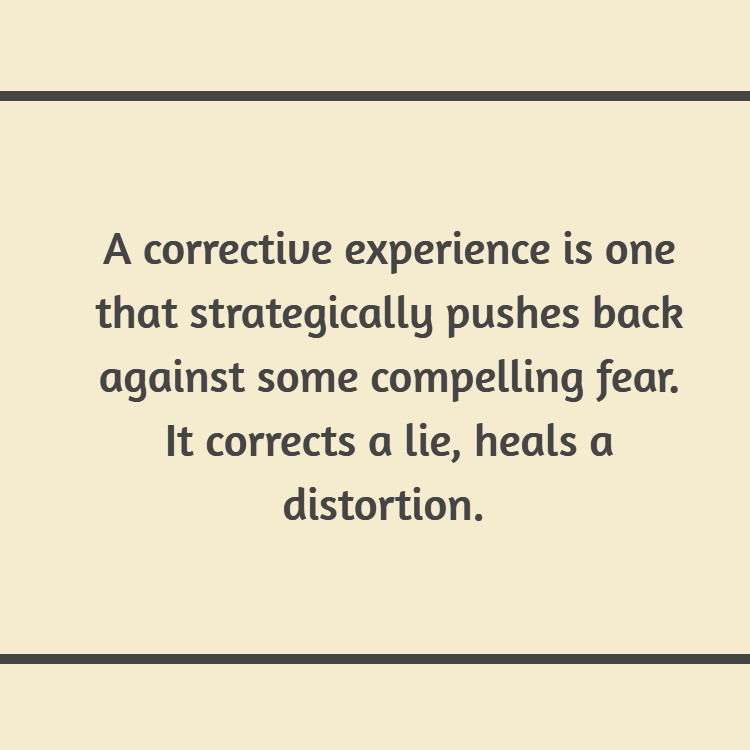 corrective experiences as key to overcoming fears