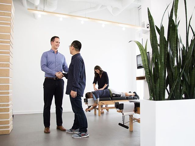 The @thepowerhousevancouver is one of my favourite health and wellness spaces that we've designed. If you're in the Olympic Village area check out this unique office space and say hello to @drbrianlanoue & @dr.thea.