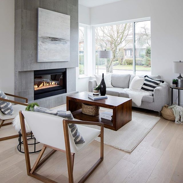 Inviting and cozy living room vibes at our #mdharrietst project in Vancouver.  Photo: @pineconecamp