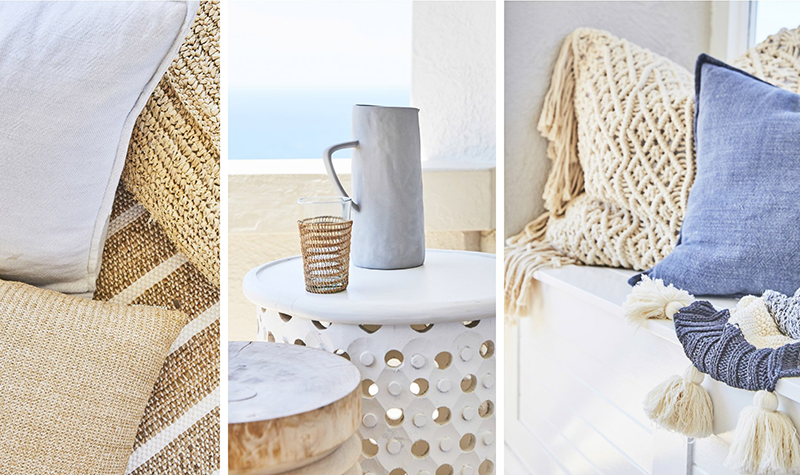 2. Texture. - this is possibly the most important element of our style. We love natural and raw textures such as jute, seagrass, wood, leather, linen and stone. We love how they all work together and create interest without having to go crazy with pattern and colour!