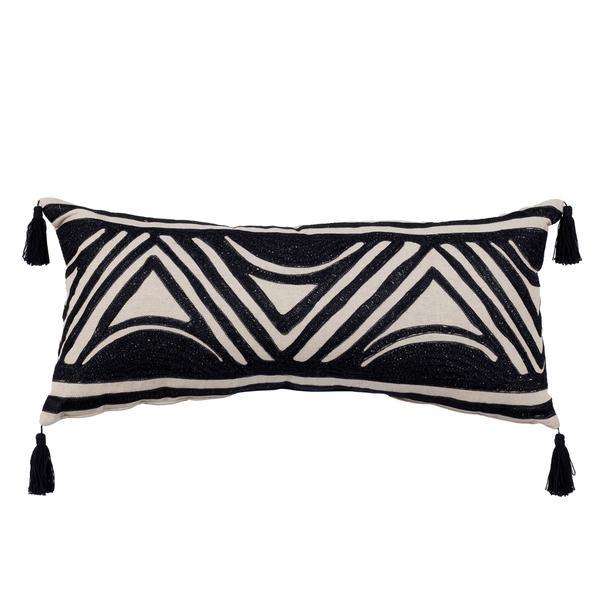 Linen & woven cushion -