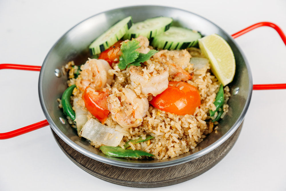 Fried Rice - With tomato, onion, scallion,Chinese broccoli and egg.