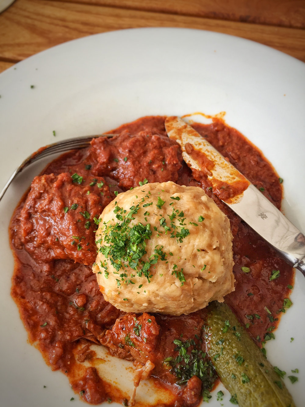 Beef Goulash - This dish also can be seen a lot in Innsbruck as well, I had this one inStiftskeller Restaurant, check this rest restaurant more like a beer garden, casual and open spaces, foods are well-presented.