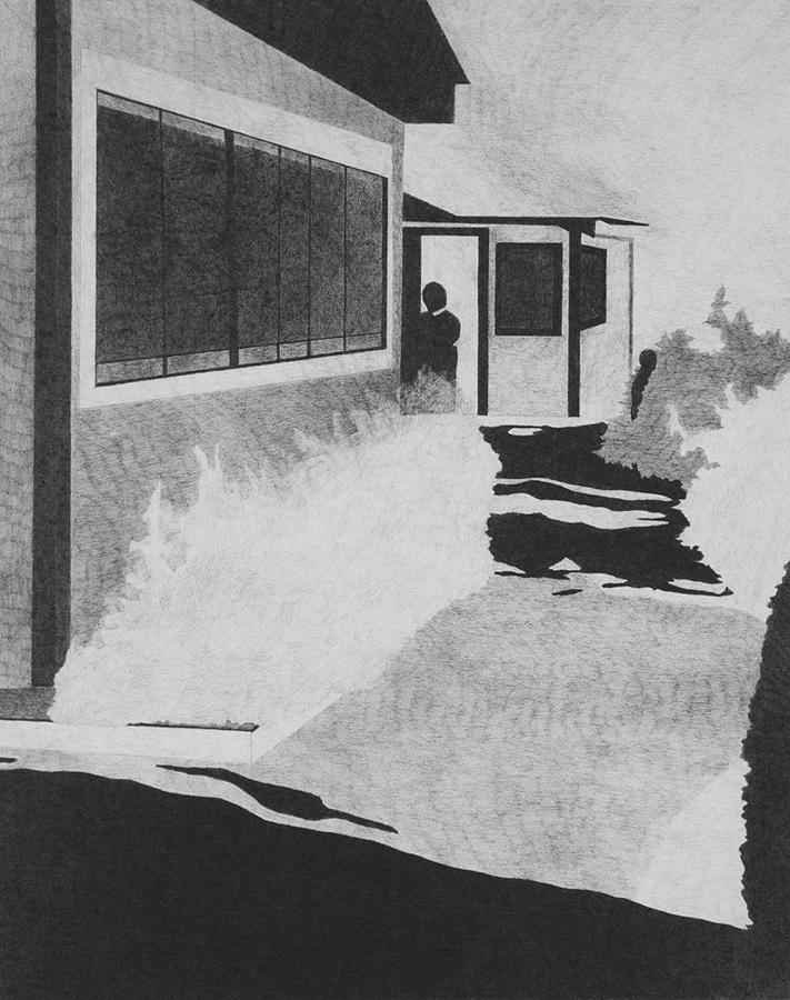 2014, summer house 38x30cm, graphite on paper