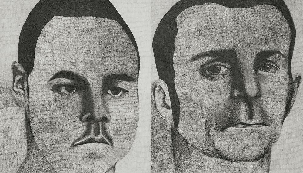 2012, Jake and Alvin (North Tulsa) 16x30cm, Pencil on Paper