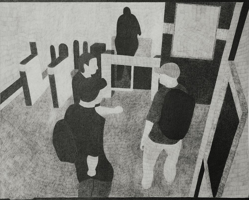 2012, Camera 13 (7/7) 20x25cm, Pencil on Paper