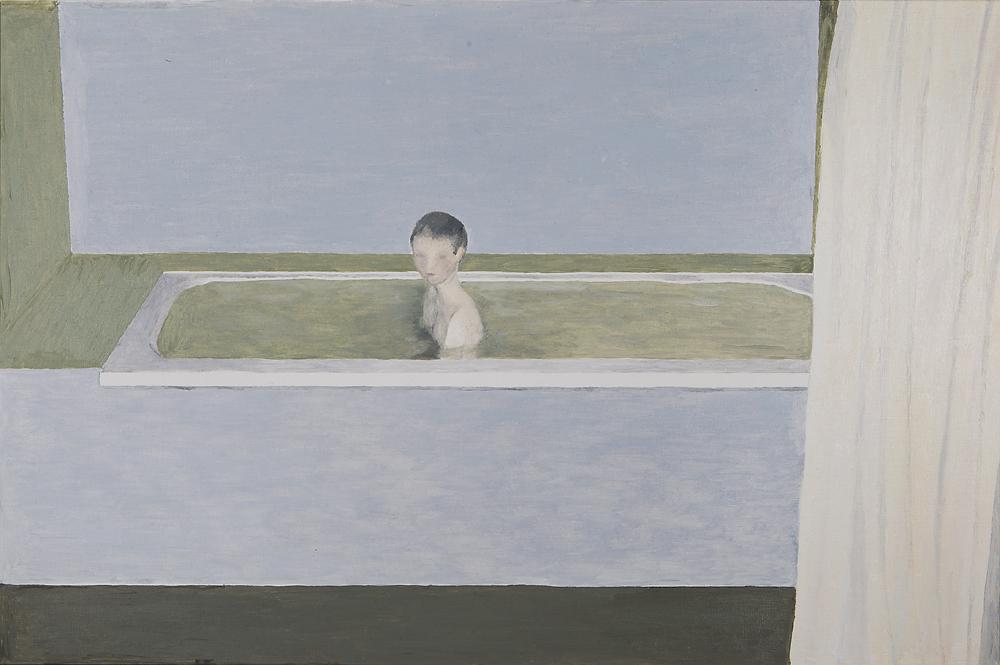 2017, The Melancholy Kid 40x60cm, Oil on Paper